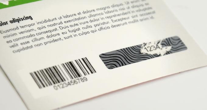 Imprimeur carte à gratter en papier format CB