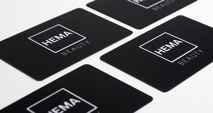 Carte De Visite En Plastique PVC Noir