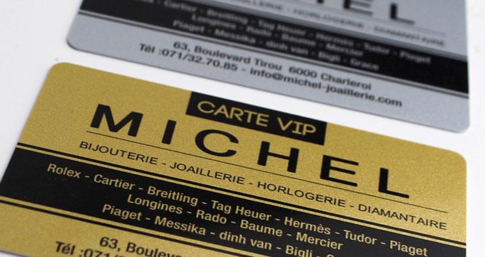 Carte De Visite Or Et Argent En Plastique PVC