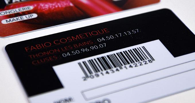 Carte De Fidelite En Plastique PVC Personnalisee Avec Code Barres