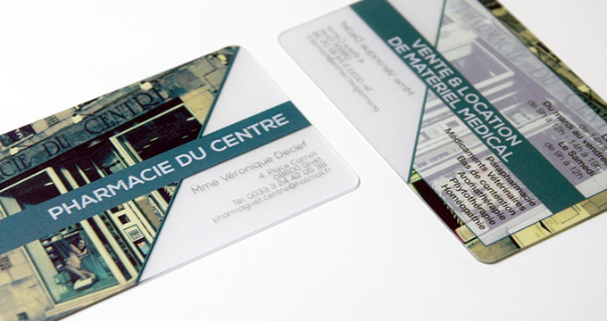 Carte Transparente En Plastique PVC
