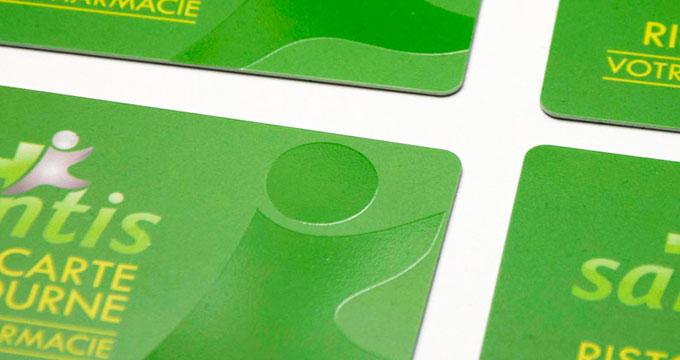 Impression De Cartes Visite En Platsique PVC Avec Verni Repere