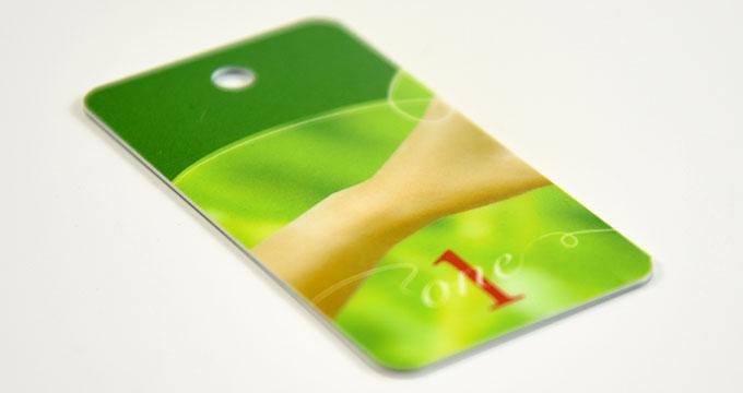 Mini cartes plastiques 54x28mm personnalisable en PVC