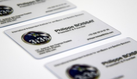 Carte De Visite En PVC Transparente PrevNext