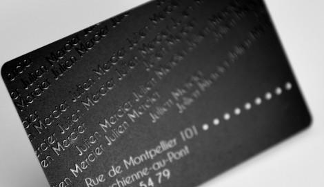 Carte De Visite En PVC Avec Verni Selectif